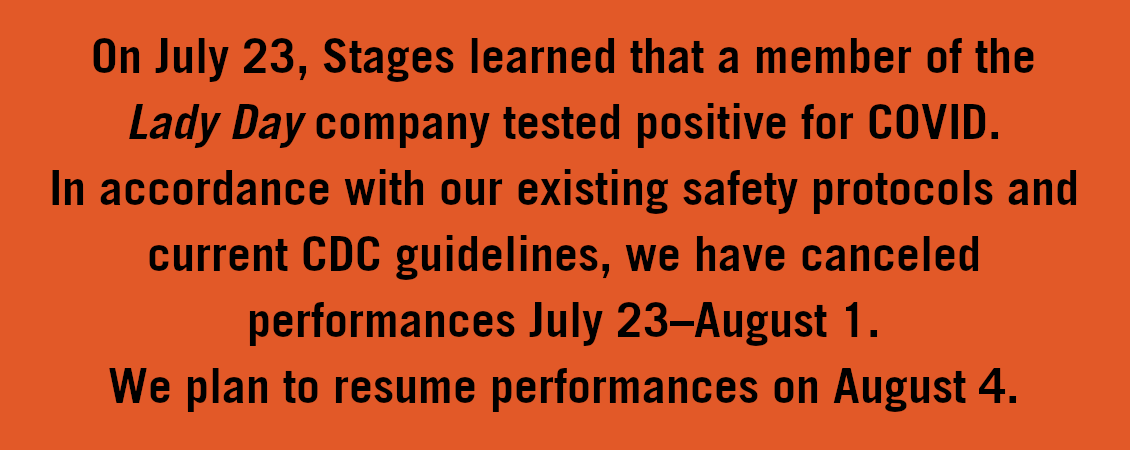 """""""Lady Day at Emerson's Bar and Grill"""" Performances Canceled July 23–August 1"""